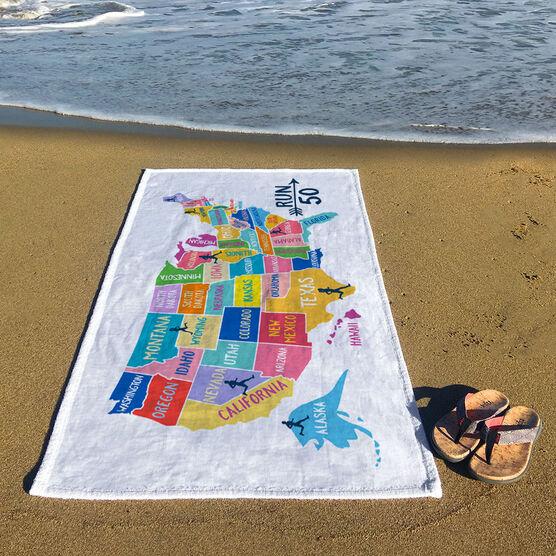 Running Premium Beach Towel - Run 50