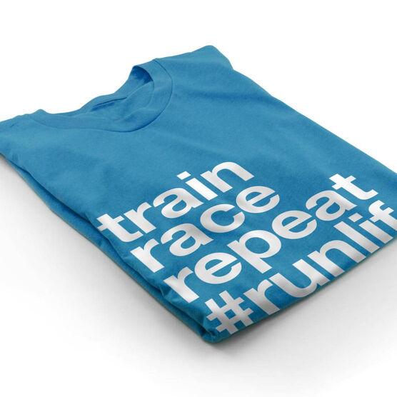 Running Short Sleeve T-Shirt - Train Race Repeat