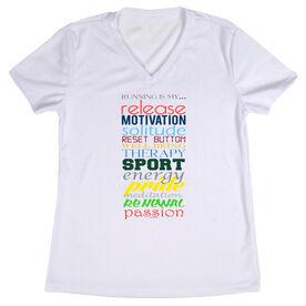 Women's Customized White Short Sleeve Tech Tee Running Is My Passion