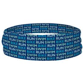 Triathlon Multifunctional Headwear - Swim Bike Run Repeat RokBAND