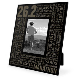 Running Engraved Picture Frame - 26.2 Math Miles