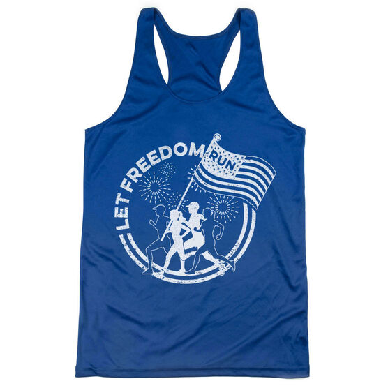 Women's Racerback Performance Tank Top - Let Freedom Run