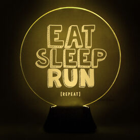 Running Acrylic LED Lamp Eat Sleep Run Repeat