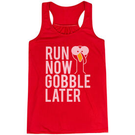 Flowy Racerback Tank Top - Run Now Gobble Later (Bold)
