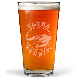 Ultra Mountain 16 oz Beer Pint Glass