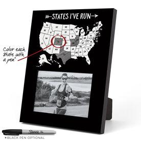 Running Photo Frame - States I've Run