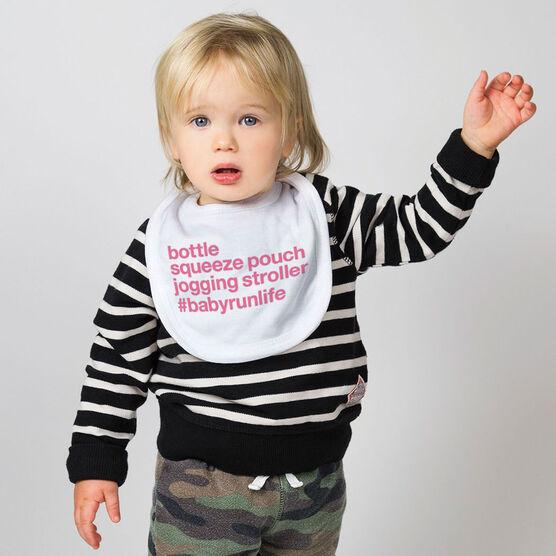 Running Baby Bib - Bottle Squeeze Pouch Jogging Stroller
