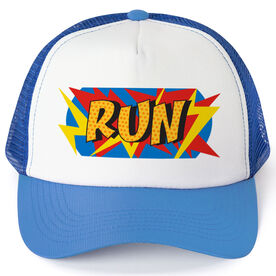 Running Trucker Hat - Comic Super Hero Runner