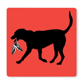 """Running 12"""" X 12"""" Removable Wall Tile - Rex The Running Dog"""
