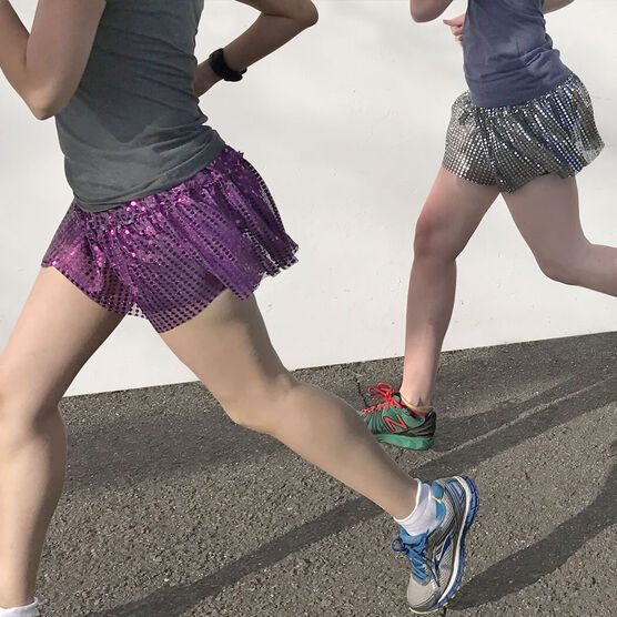 Running Costume Skirt - Glitter Sequined