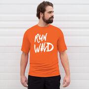 Men's Running Short Sleeve Tech Tee - Run Wild Sketch