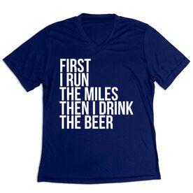Women's Short Sleeve Tech Tee - Then I Drink The Beer
