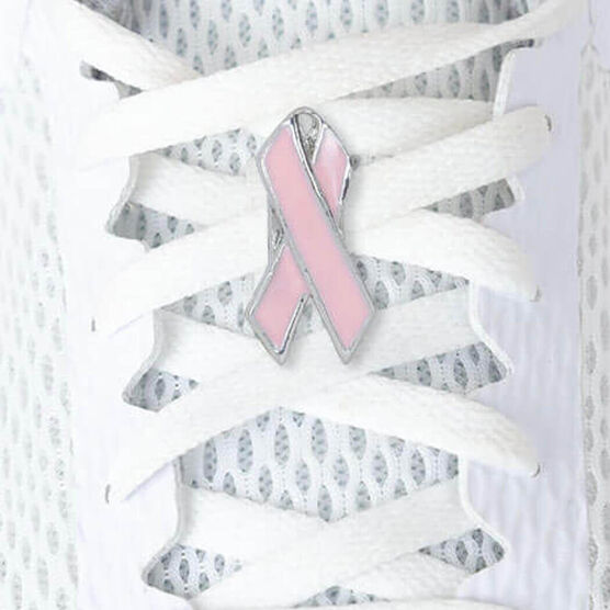 LaceBLING Shoelace Charm - Pink Ribbon