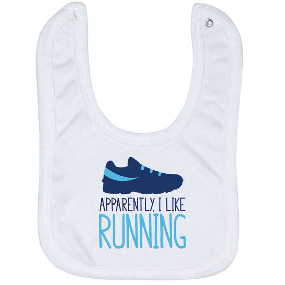 Running Baby Bib - Apparently, I Like Running