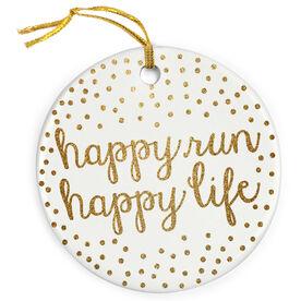 Running Porcelain Ornament - Happy Run Happy Life