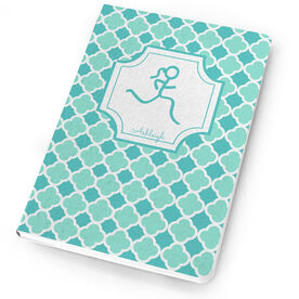 Running Notebook Runner Girl Stick Figure With Quatrefoil
