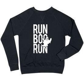 Running Raglan Crew Neck Sweatshirt - Run Boo Run