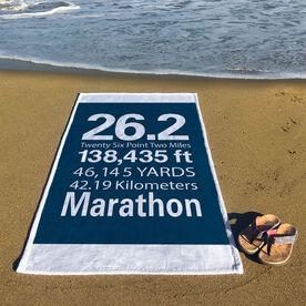 Running Premium Beach Towel - 26.2 Math Miles