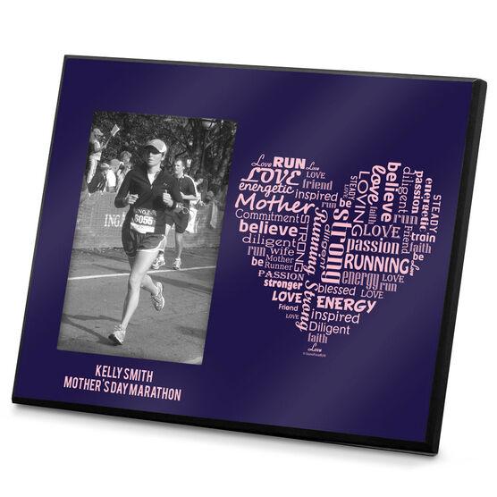Running Photo Frame Runner Mom's Heart