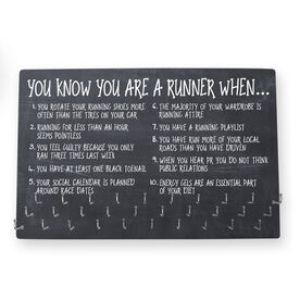 Running Large Hooked on Medals Hanger - ChalkBoard You Know You're a Runner When