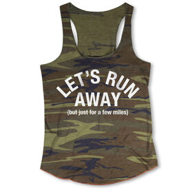 Running Camouflage Racerback Tank Top - Let's Run Away