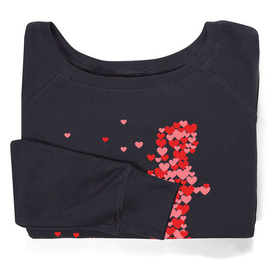 Running Fleece Wide Neck Sweatshirt - Heartfelt Run