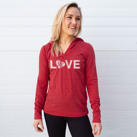 Women's Running Lightweight Performance Hoodie - Love Run