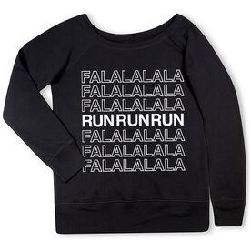 Running Fleece Wide Neck Sweatshirt - FalalalaRun