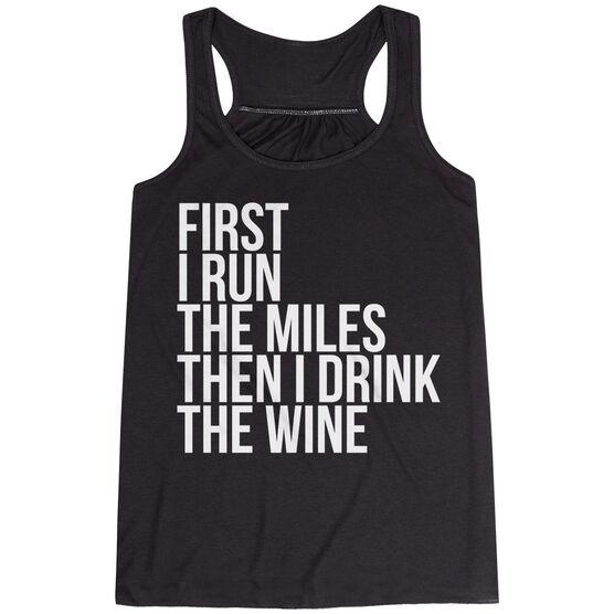 Flowy Racerback Tank Top - Then I Drink The Wine