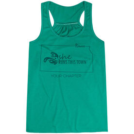 Flowy Racerback Tank Top - She Runs This Town Kansas Runner