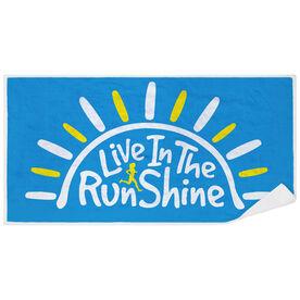 Running Premium Beach Towel - Live in The RunShine