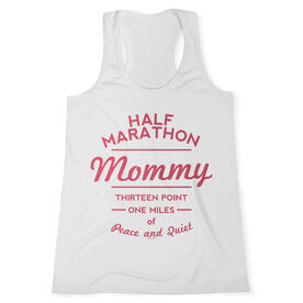 Women's Customized Performance Tank Top Half Marathon Mommy (White Tank Top)