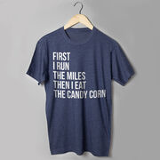 Running Short Sleeve T-Shirt - Then I Eat The Candy Corn
