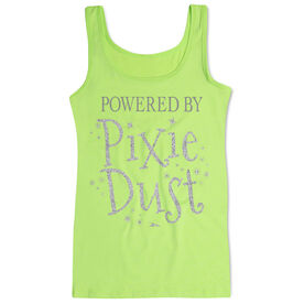 Women's Athletic Tank Top Powered by Pixie Dust [Neon Green/Adult Small] - SS