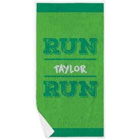 Running Premium Beach Towel - Run Your Name Run