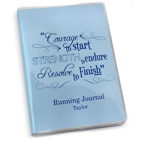 GoneForaRun Running Journal - Vintage Courage To Start