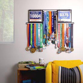 Deluxe BibFOLIO+™ Race Bib and Medal Display