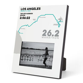 Running Photo Frame - Personalized Los Angeles Map