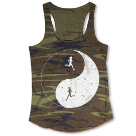 Running Camouflage Racerback Tank Top - Runner Girl Yin Yang
