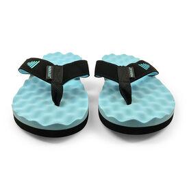PR SOLES® Recovery Flip Flops V1 - Carolina Blue