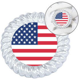 Running Shoelace Charm - American Flag