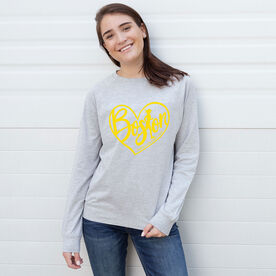 Running Raglan Crew Neck Sweatshirt - Love The Run Boston 26.2