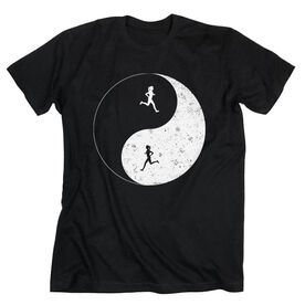 Running Short Sleeve T-Shirt - Runner Girl Yin Yang
