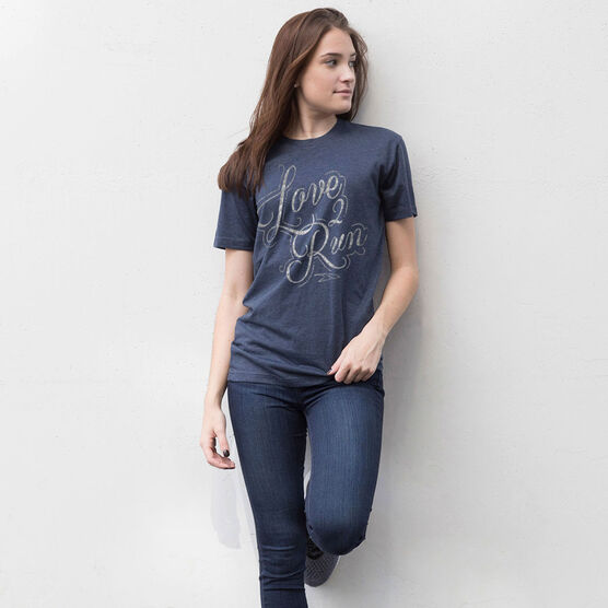 Running Short Sleeve T-Shirt - Love To Run (Script)