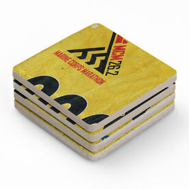 BibCOASTERS Your Race Bib on Set of 4 Coasters  - Stone Coaster