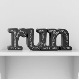 Run All Around Inspiration Engraved Wood Words