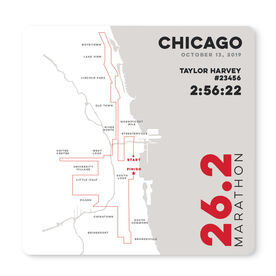 """Running 12"""" X 12"""" Removable Wall Tile - Personalized Chicago Map"""
