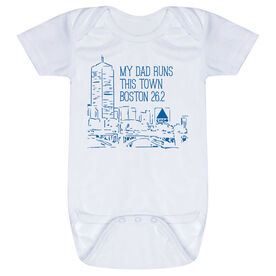 Running Baby One-Piece - My Dad Runs This Town (Boston)
