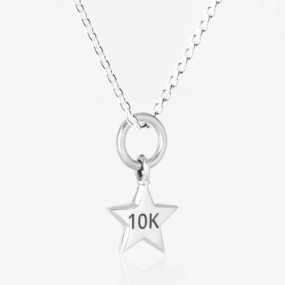 Sterling Silver 10K Star Pendant Runner Necklace