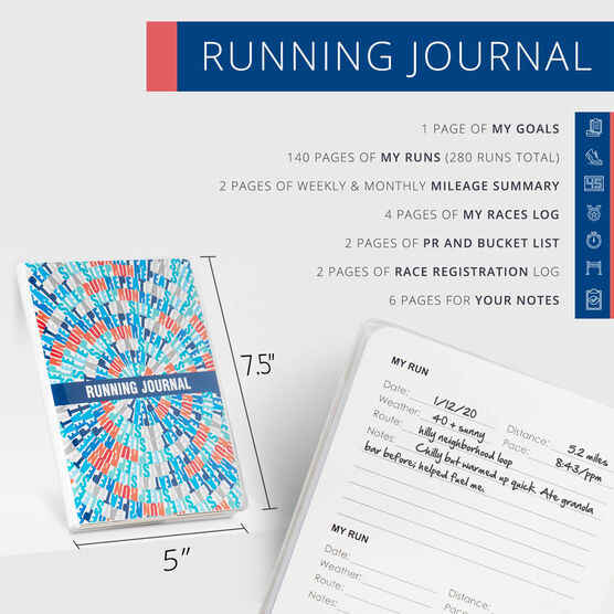 GoneForaRun Running Journal - Eat Sleep Run Repeat